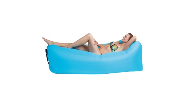 Happy People Lounger To Go 2.0 Luchtbed 180x75x60 cm Blauw