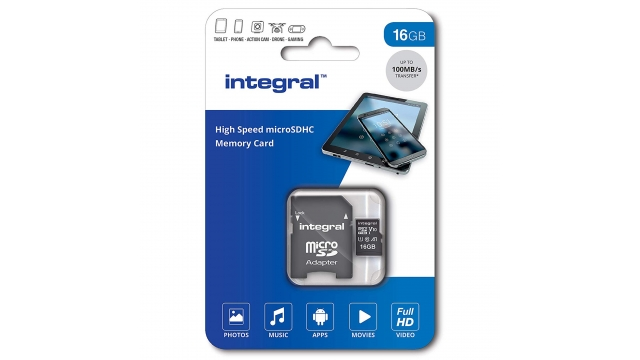 Integral Micro-sdhc V10 100mb/s 16gb