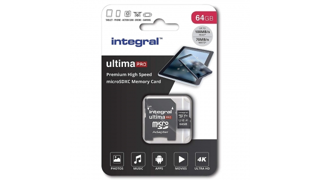 Integral Micro-sdxc V30 100/70mb 64gb