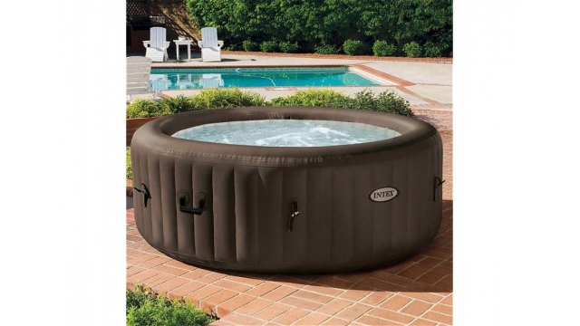 Intex 28422EX PureSpa Jet Massage Jacuzzi 4-Persoons Set 196/145x71cm