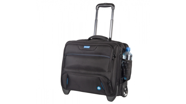 Juscha JU-46215 Laptoptrolley RPET Zwart 38x45x23cm Materiaal: Gerecycled PET