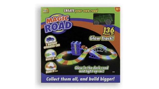 Kids Fun Magic Road Glow In The Dark Set + Licht 136-delig