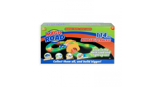 Kids Fun Magic Road Glow In The Dark Set + Licht 114-delig