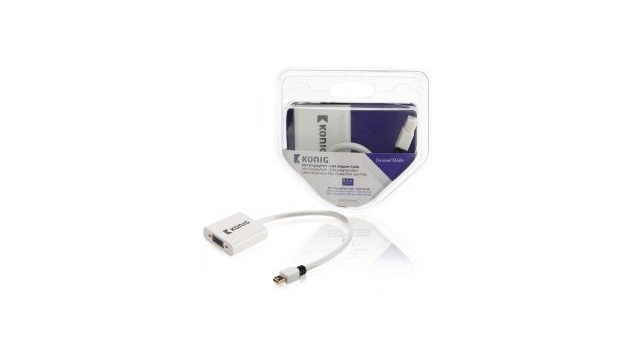 König KNM37850W02 Mini Displayport - Vga Adapterkabel Mini Displayport Male - Vga Female 0,20 M Wit