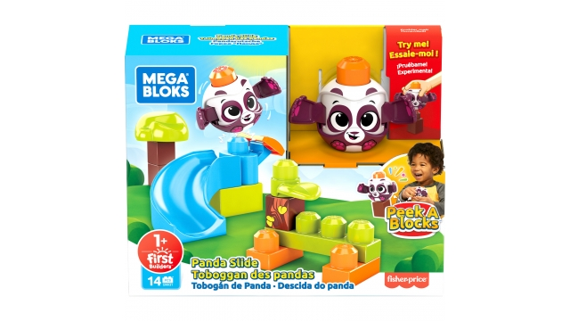 Mega Bloks First Peek A Blocks Panda Slide 14-delig