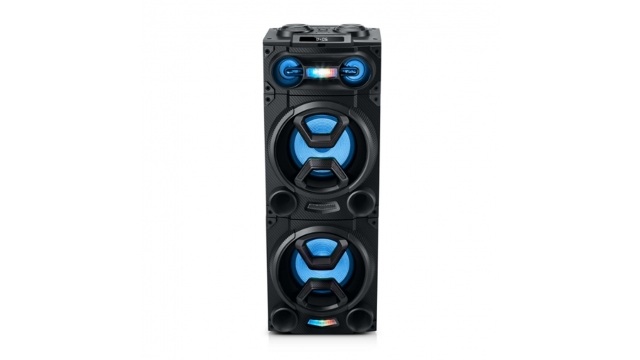 Muse M-1986DJ Party Box Bluetooth Speaker met Licht Zwart