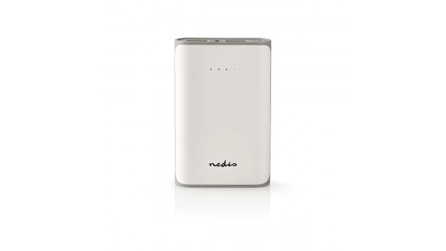 Nedis UPBK7500WT Powerbank 7500 Mah 2 Usb-a Uitgangen 3.1 A Micro-usb Ingang Wit