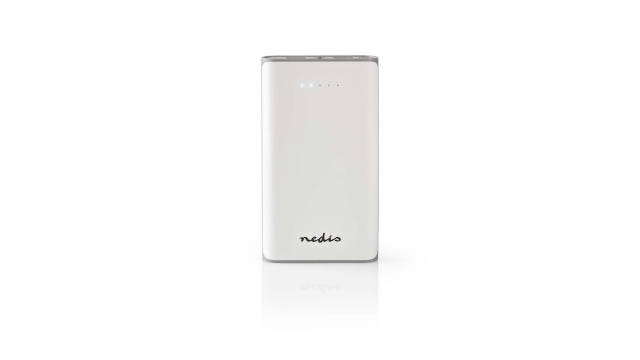 Nedis UPBK15000WT Powerbank 15000 Mah 2 Usb-a Uitgangen 3.1 A Micro-usb Ingang Wit