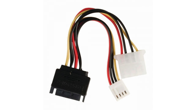Nedis CCGP73550VA015 Interne Voedingskabel Sata 15-pins Male - Molex Female + Fdd Female 0,15 M Diverse