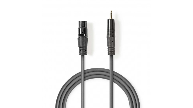 Nedis COTH15320GY10 Gebalanceerde Xlr-audiokabel Xlr 3-pins Female - 3,5 Mm Male 1,0 M Grijs
