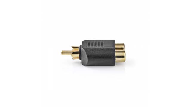 Nedis CAGP24940BKG Subwoofer-adapter Rca Male - 2x Rca Female 10 Stuks Zwart