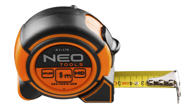 Neo Tools Rolmaat 5 Mtr Magnetisch Nylon Gecoat 19mm Band Breedte