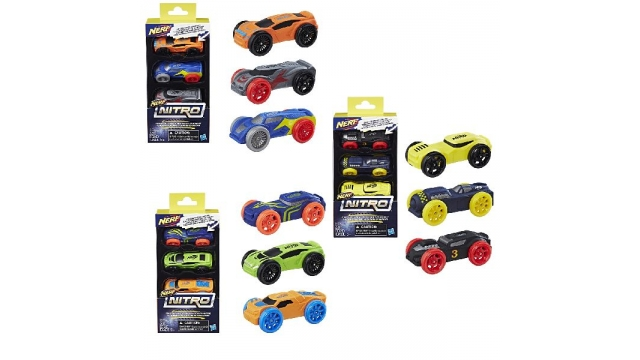 Nerf Nitro Foam Car 3 Stuks Assorti