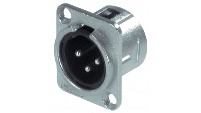 Neutrik NTR-NC3MD-L-1 Xlr Panel-mount Male Receptacle 3 Panel-mount Male Receptacle Dl Soldeer Connectie Nickel-plated