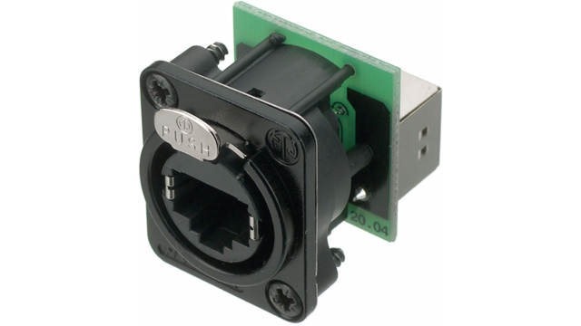 Neutrik NTR-NE8FDP-B Panel Mount Jack Rj 45 8/8/8rj45 Black