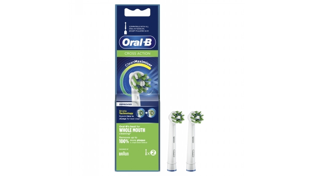Oral-B CrossAction CleanMaximiser Opzetborstels 2 Stuks