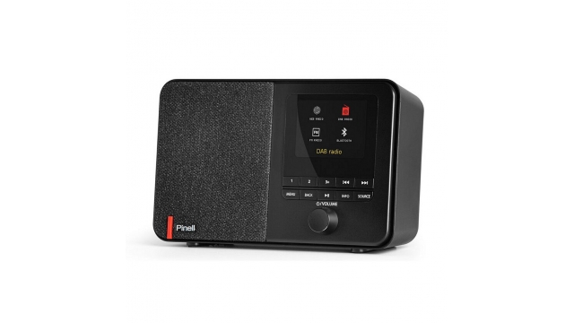 Pinell SUPERSOUND 101 DAB + en Internetradio Zwart