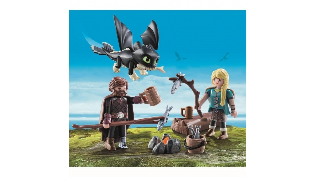 Playmobil 70040 Dreamworks Dragons Hikkie en Astrid met babydraak