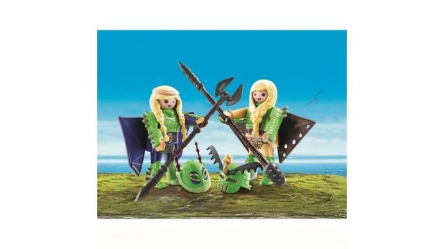 Playmobil 70042 Dreamworks Dragons Schorrie en Morrie in Vliegpak