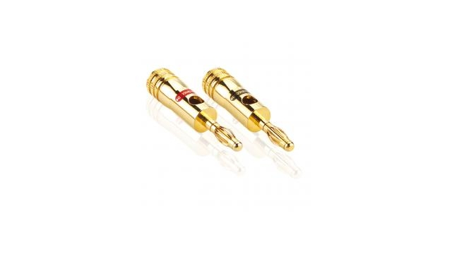 Profigold Prod700 Audioconnectorset 2x Banana Male Rood + 2x Banana Male Zwart