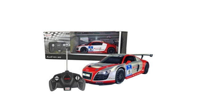 Audi R8 Lms Rc 1:18 Silver/red