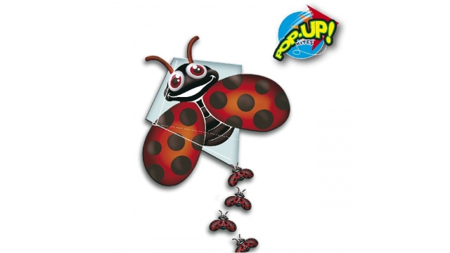 Rhombus Pop-Up Lady Bug Vlieger