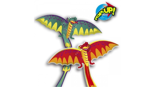 Rhombus Pop-Up 3D Dragon Vlieger Assorti