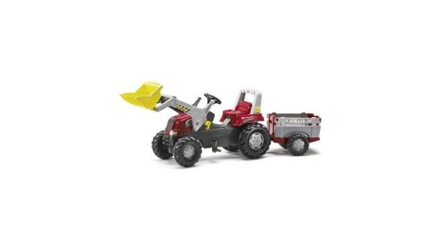 Rolly Toys 811397 RollyJunior RT Tractor met Lader en Farmtrailer