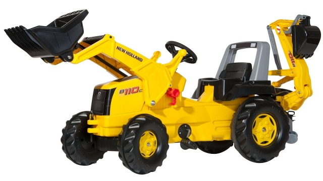 Rolly Toys 813117 RollyJunior NH Construction Tractor met Lader en Graafarm