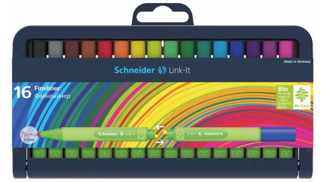 Schneider S-191292 Fineliner Link-It 0,4mm Assorti 16 Stuks