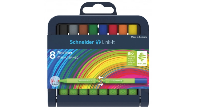 Schneider S-191298 Fineliner Link-It 0,4mm Assorti 8 Stuks