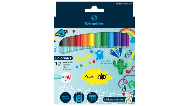 Schneider S-193091 Viltstift Colorina B Set à 12stuks