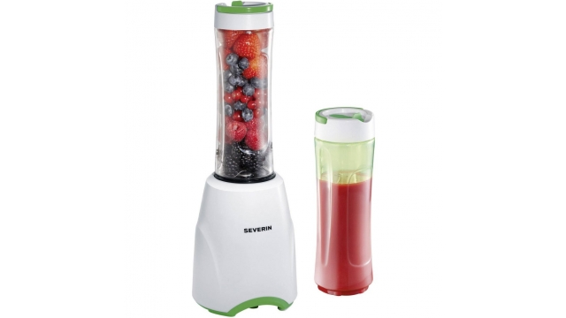 Severin SM3735 Smoothie Mix and Go Blender Wit/Groen