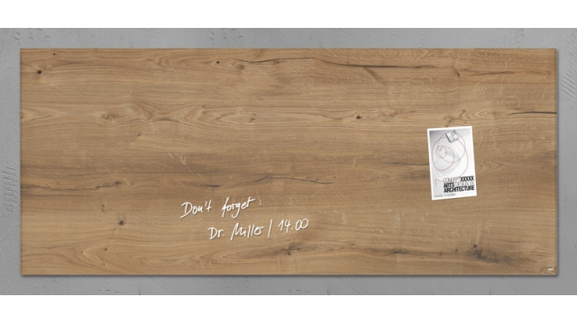 Sigel SI-GL247 Glasmagneetbord Artverum 1300x550x15mm Natural Wood