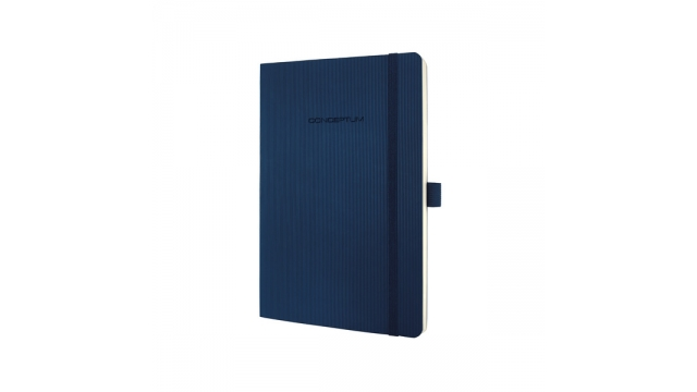 Sigel SI-CO326 Notitieboek Conceptum Pure Softcover A5 Blauw Geruit