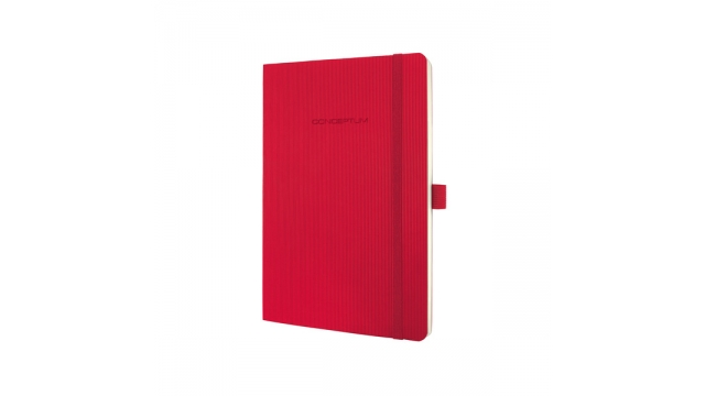 Sigel SI-CO325 Notitieboek Conceptum Pure Softcover A5 Rood Gelinieerd