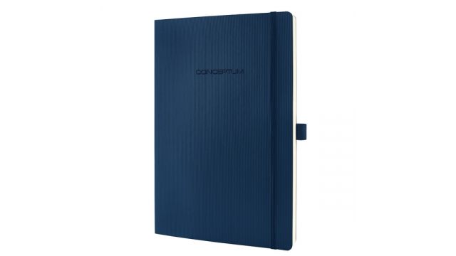 Sigel SI-CO316 Notitieboek Conceptum Pure Softcover A4 Blauw Geruit
