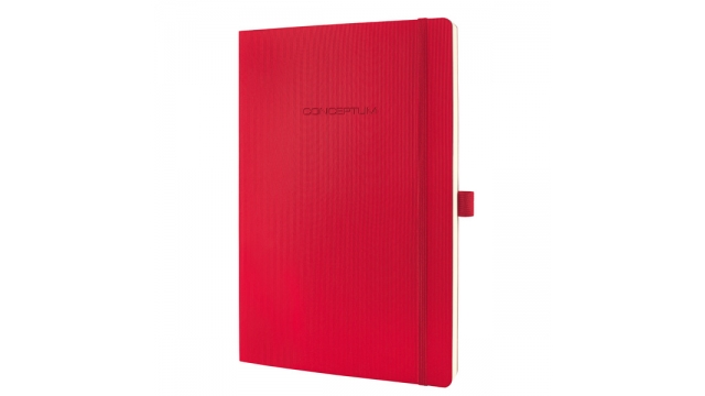 Sigel SI-CO315 Notitieboek Conceptum Pure Softcover A4 Rood Gelinieerd