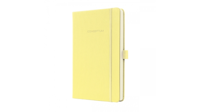Sigel SI-CO614 Notitieboek Conceptum Pure Hardcover A5 Smooth Yellow Geruit