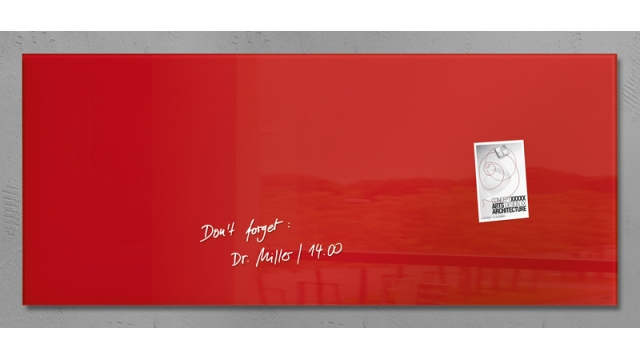 Sigel SI-GL242 Glasmagneetbord Artverum 1300x550x15mm Rood
