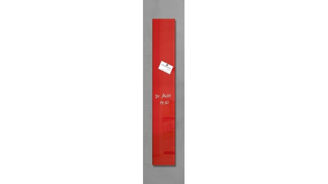 Sigel SI-GL104 Glasmagneetbord Artverum 120x780x15mm Rood