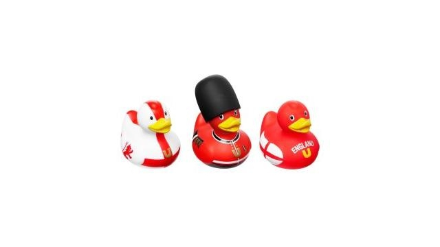 Simply for Kids 22225 Set van 3 Designer Badeendjes Engeland
