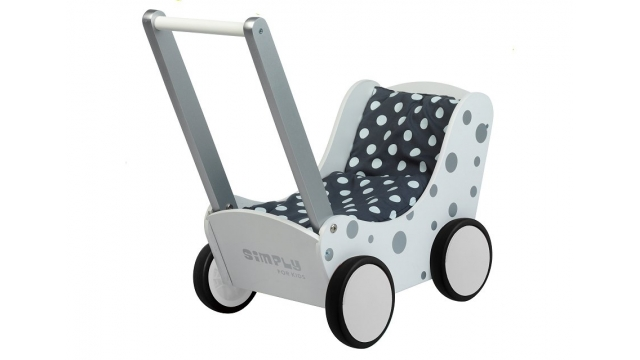 Simply for Kids 36409 Poppenwagen Stippeltje Zilver