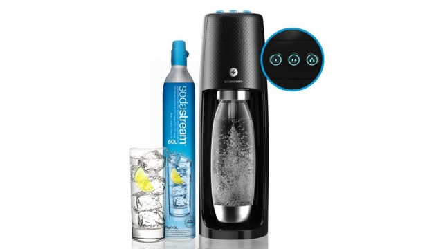 Sodastream Spirit One Touch + 1 Fuse Fles en 60L CO2 Cilinder Zwart