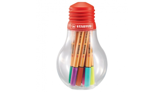Stabilo Colorfol Ideas Gloeilamp Point 88 Mini 12 Kleuren