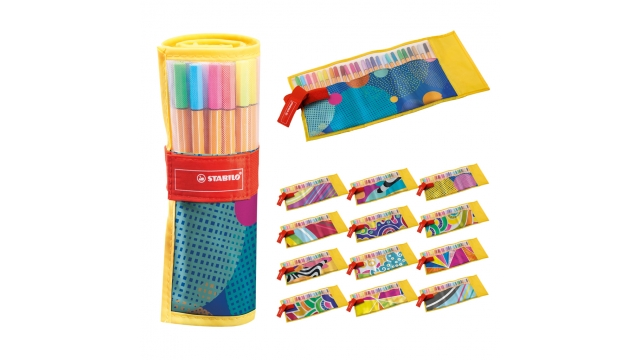 Stabilo Fineliners Set in Etui 25 Kleuren Assorti