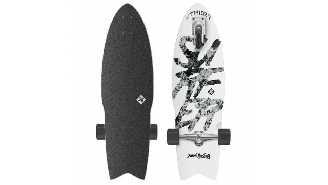 "Street Surfing Shark Attack 30"" Zelfrijdend Longboard Great White"