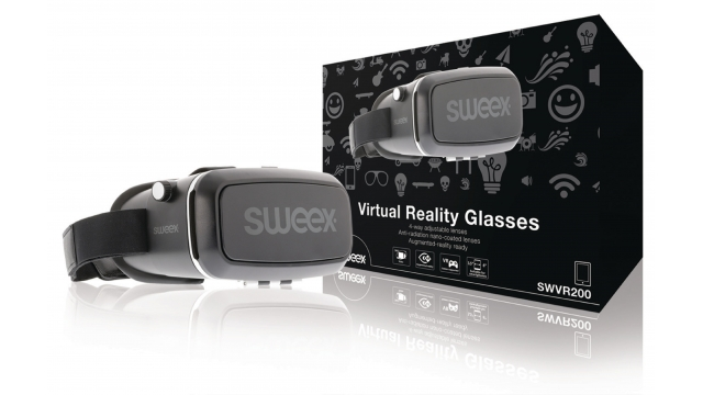 Sweex SWVR200 Virtual Reality-bril Zwart/zilver