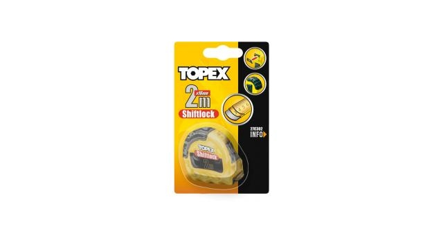 Topex Rolmaat 10 Mtr Shiftlock Nylon Gecoat
