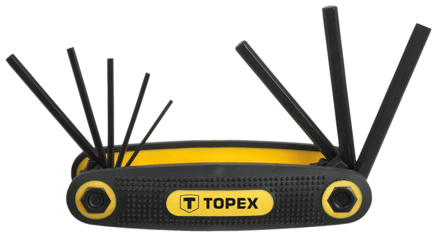 Topex Pocket Inbusset 1,5-6,0mm CrV Staal